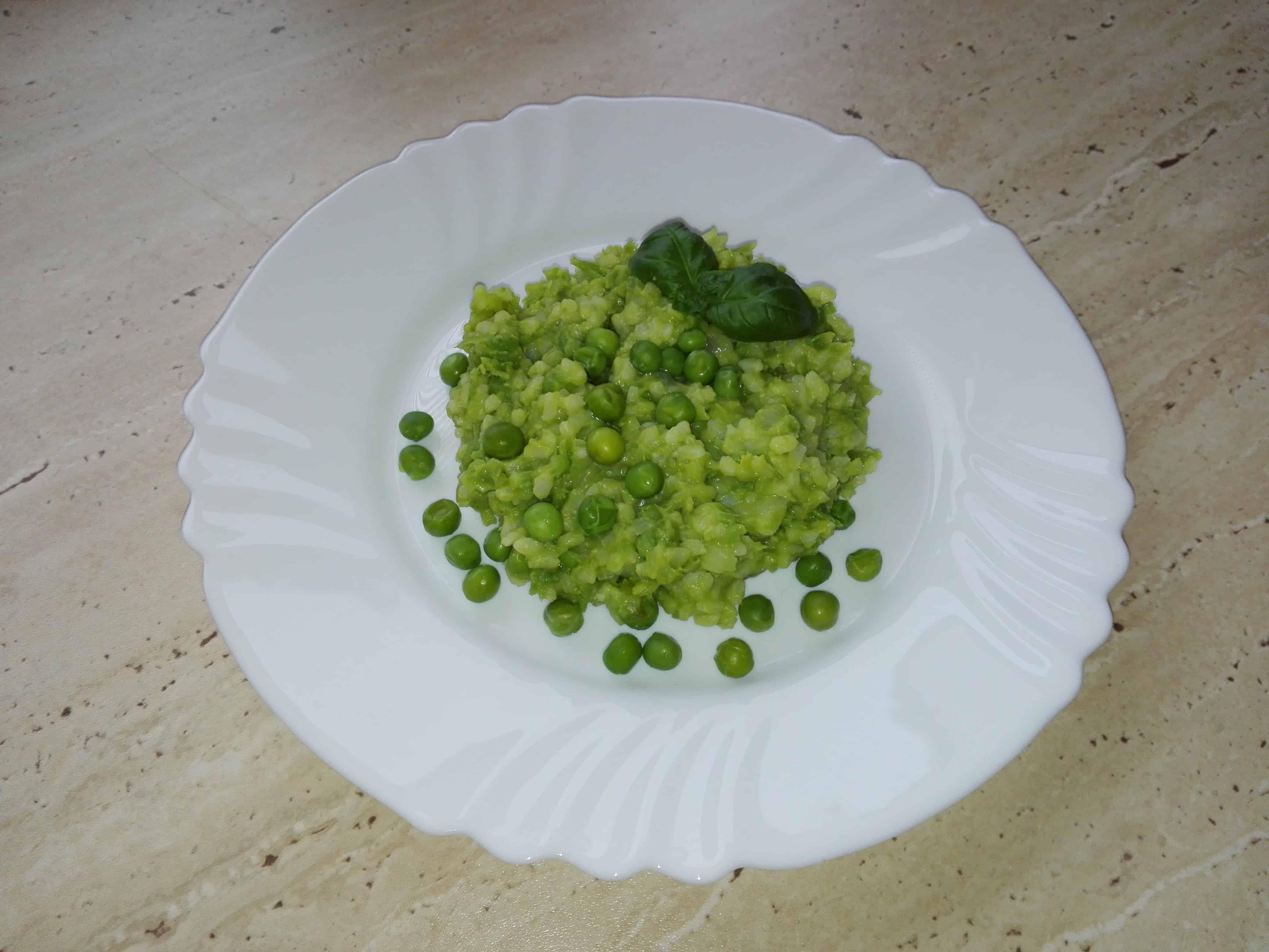 Hráškové rizoto