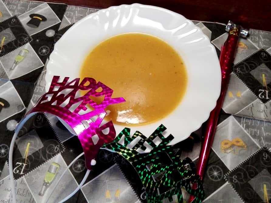Novoročná šošovicová polievka