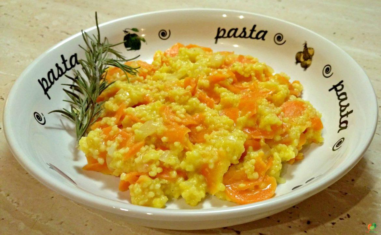 Rozmarínové pšeno s mrkvou