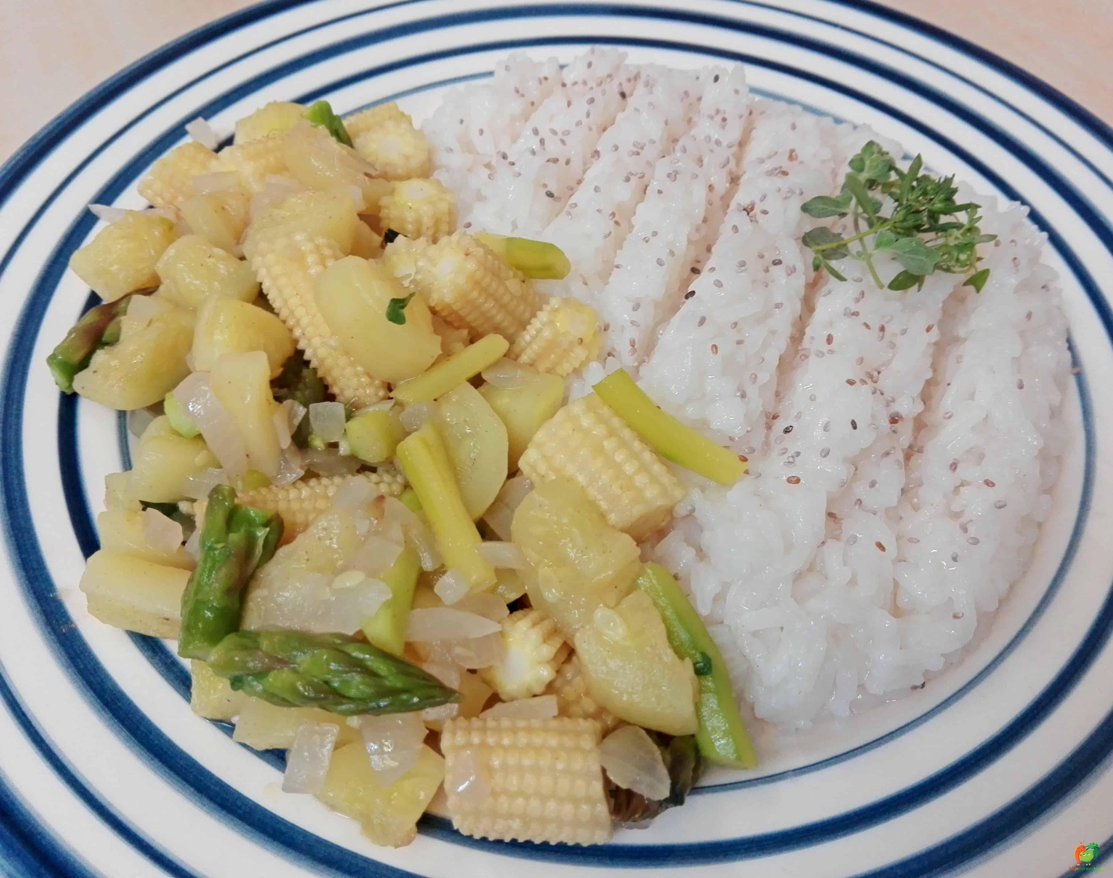 Miešaná zeleninka s jazmínovou ryžou