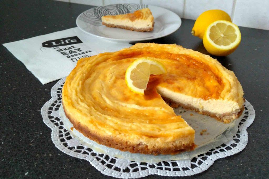 citronový cheesecake 1