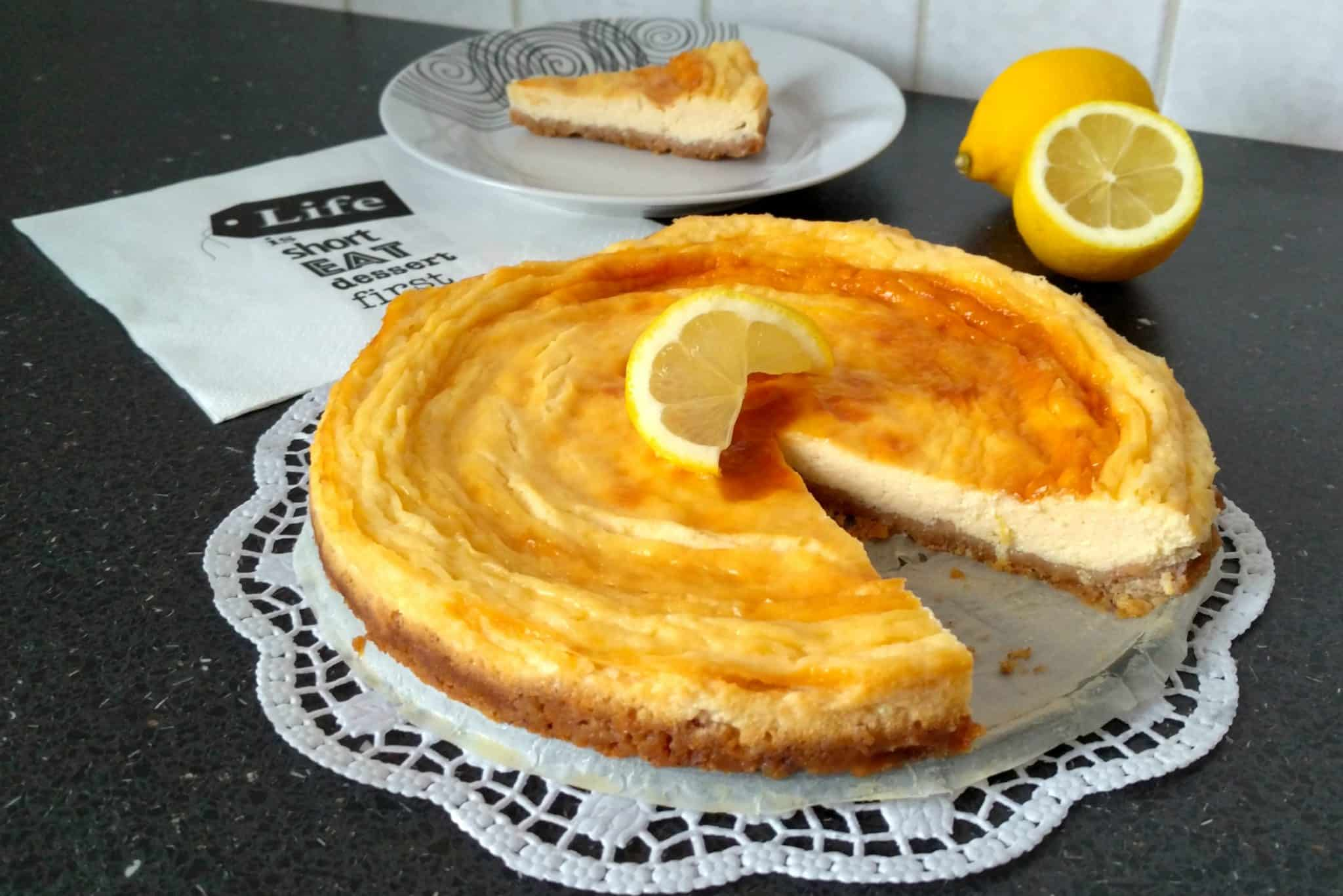 Citrónový cheesecake