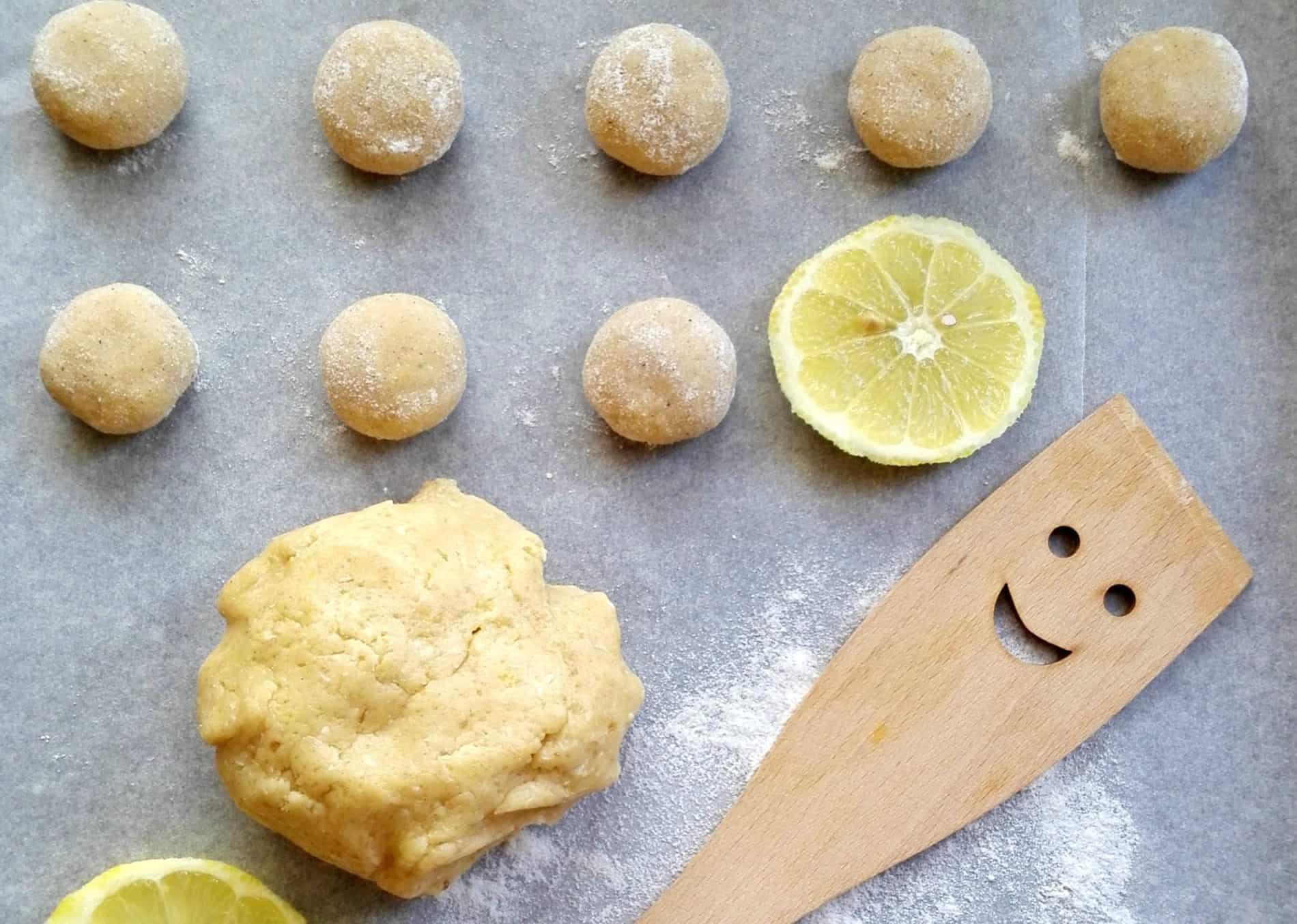 Citrónovo-vanilkové crinkles