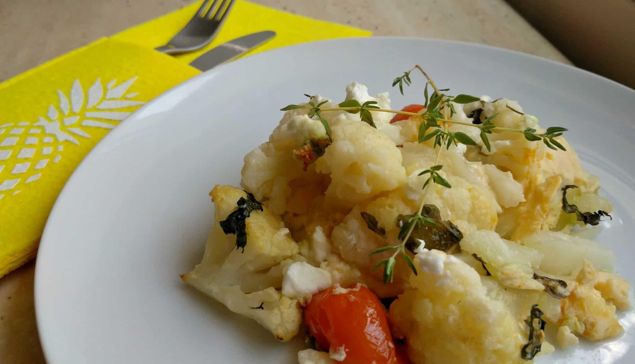 Zapekaná zelenina s Fetou