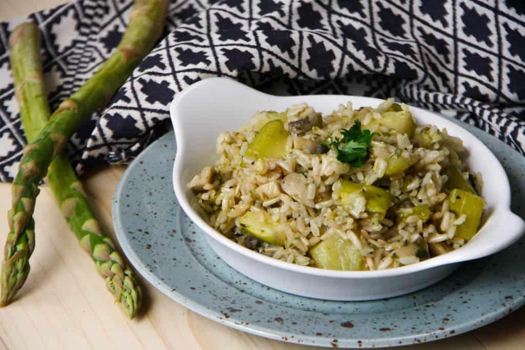 Rizoto z natural ryže s jarnými bylinkami