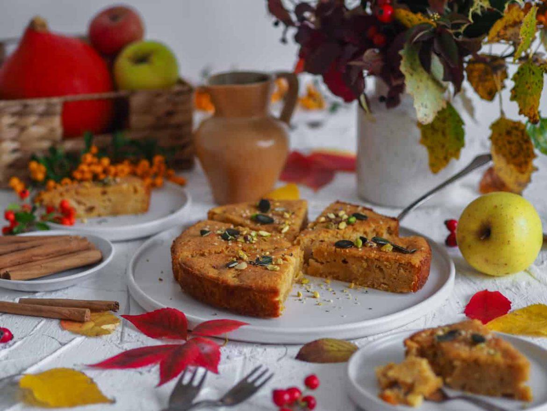 Tekvicovo - jablkový koláč