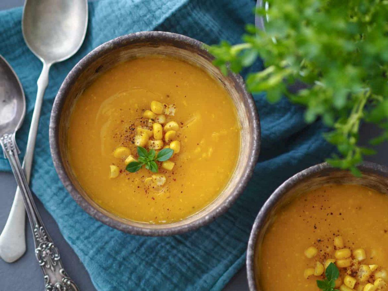 Tekvicovo-kukuricová polievka