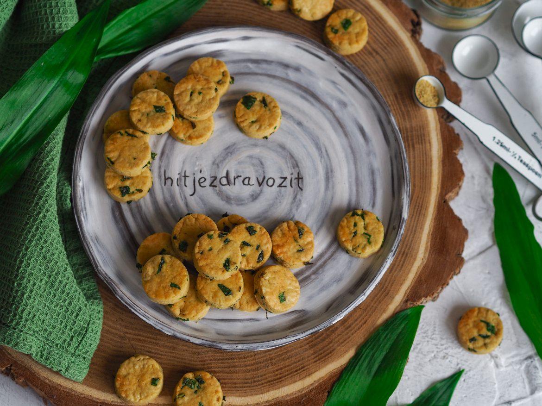 Slané keksy z medvedieho cesnaku